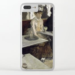 The Absinthe Drinker by Edgar Degas Clear iPhone Case