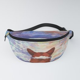 Corgi - sunset adorer Fanny Pack
