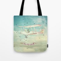 never stop exploring Tote Bags featuring Never Stop Exploring III by Monika Strigel