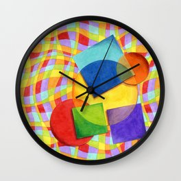 Candy Rainbow Circus Wall Clock