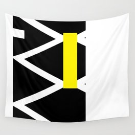 yellow and blue Wall Tapestry