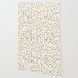 Boho Chic gold mandala design Wallpaper