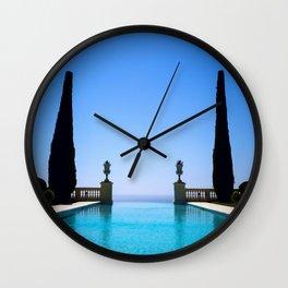 Endless French Riviera Wall Clock