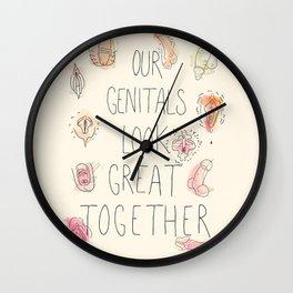 Happy Genitals Wall Clock