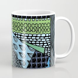Simple Doodles Green . Artwork Coffee Mug