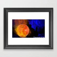 Ignited apple Framed Art Print