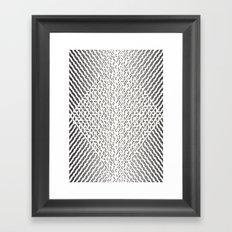 Stripes In Black & White Framed Art Print