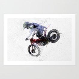 Nose Stand - Motocross Move Art Print