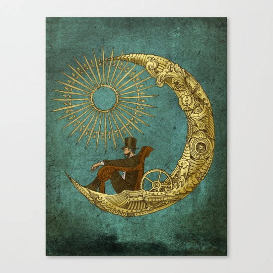 Moon Travel Canvas Print