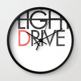 City Light Drive Wall Clock