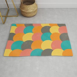 Bright Decaying Scales Rug