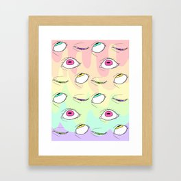 Neon Framed Art Print