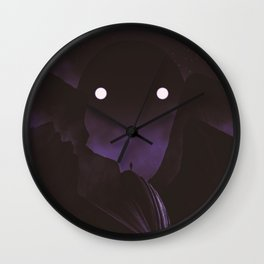 Staring Contest With The Mountain God Wall Clock