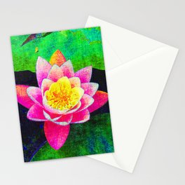 Camera on florals 5 Stationery Cards
