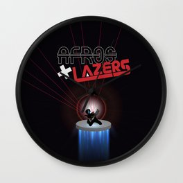 Afros And Lazers Wall Clock