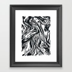 Marbled Black Framed Art Print