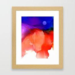 Flame - Alcohol Ink on Paper Framed Art Print