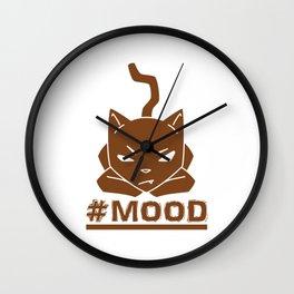 #MOOD Cat Brown Wall Clock