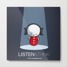 Luka Space Listen & Think Metal Print