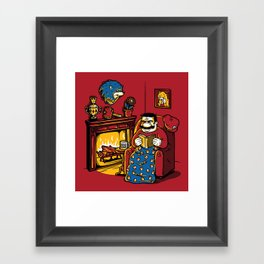 A Quiet Evening at Home Framed Art Print