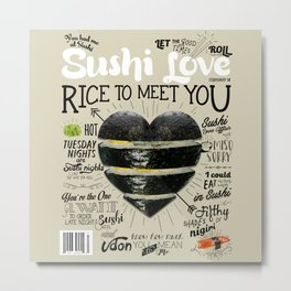 Sushi Love Cover Metal Print