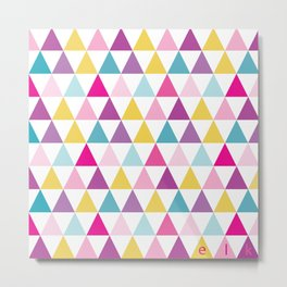 girlly bright triangles Metal Print