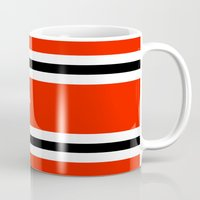 indonesia Mugs featuring aceh indonesia ethnic flag by tony tudor