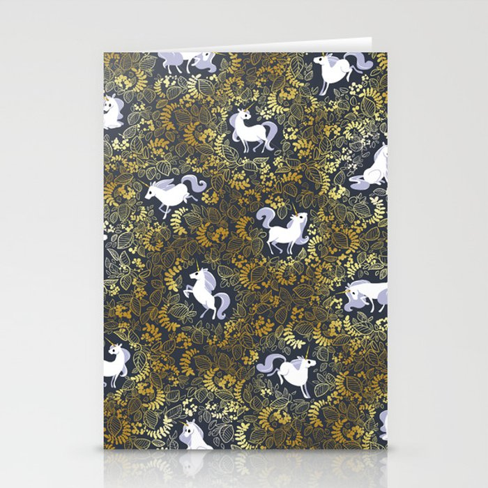 Unicorn pattern Stationery Cards