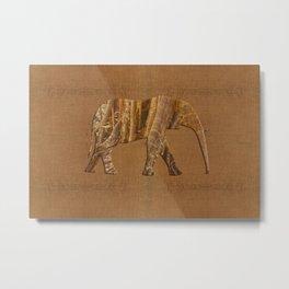 Rainforest Elephant - Tribal African Art Style Metal Print