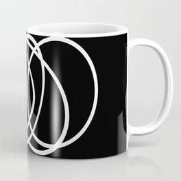 Mid Century Black And White Minimalist Design Coffee Mug