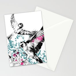 One Fell Swoop, Teal & Pink Stationery Cards