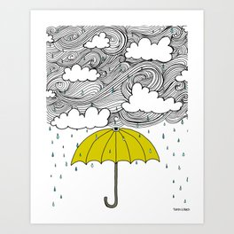 The Yellow Umbrella Art Print