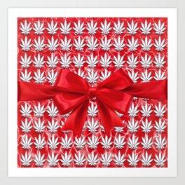 Merry Cannabis! Art Print