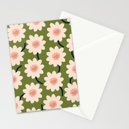 Flower field - green Stationery Cards