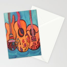 3 Guitars Stationery Cards