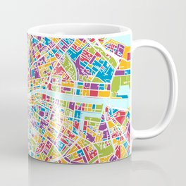 Dublin Ireland City Map Coffee Mug