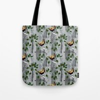 tits Tote Bags featuring Crested Tits by LindaWinegum