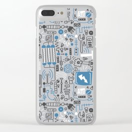 All my circuits in a pattern Clear iPhone Case