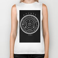 "occult Biker Tanks featuring Everette Hartsoe's Occult 13 ""SPIRITBOARD"" by House of Hartsoe"