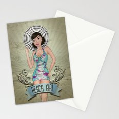 Beach Girl Pin-up Stationery Cards