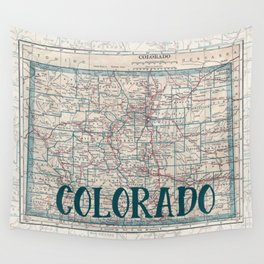 Colorado Map Wall Tapestry