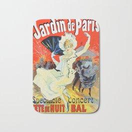 Jules Cheret Champs Elysees Jardin De Paris 1892 Bath Mat