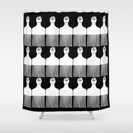 I pick my afro - (black) Shower Curtain