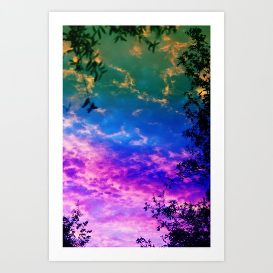 Rainbow Forest Art Print