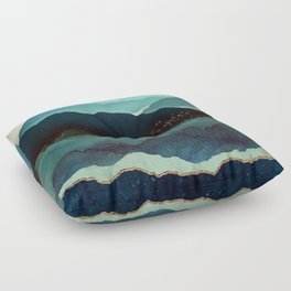 Indigo Mountains Floor Pillow