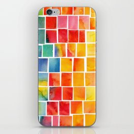 Colorful squares iPhone Skin