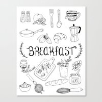 breakfast Canvas Prints featuring Breakfast by Brooke Weeber