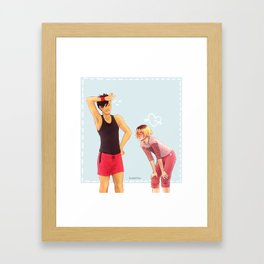 Working Out Framed Art Print