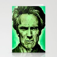 clint eastwood Stationery Cards featuring Clint Eastwood by Jason Hughes