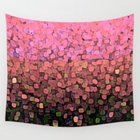sparkles Wall Tapestries featuring  Sparkles and Glitter Pink by Saundra Myles